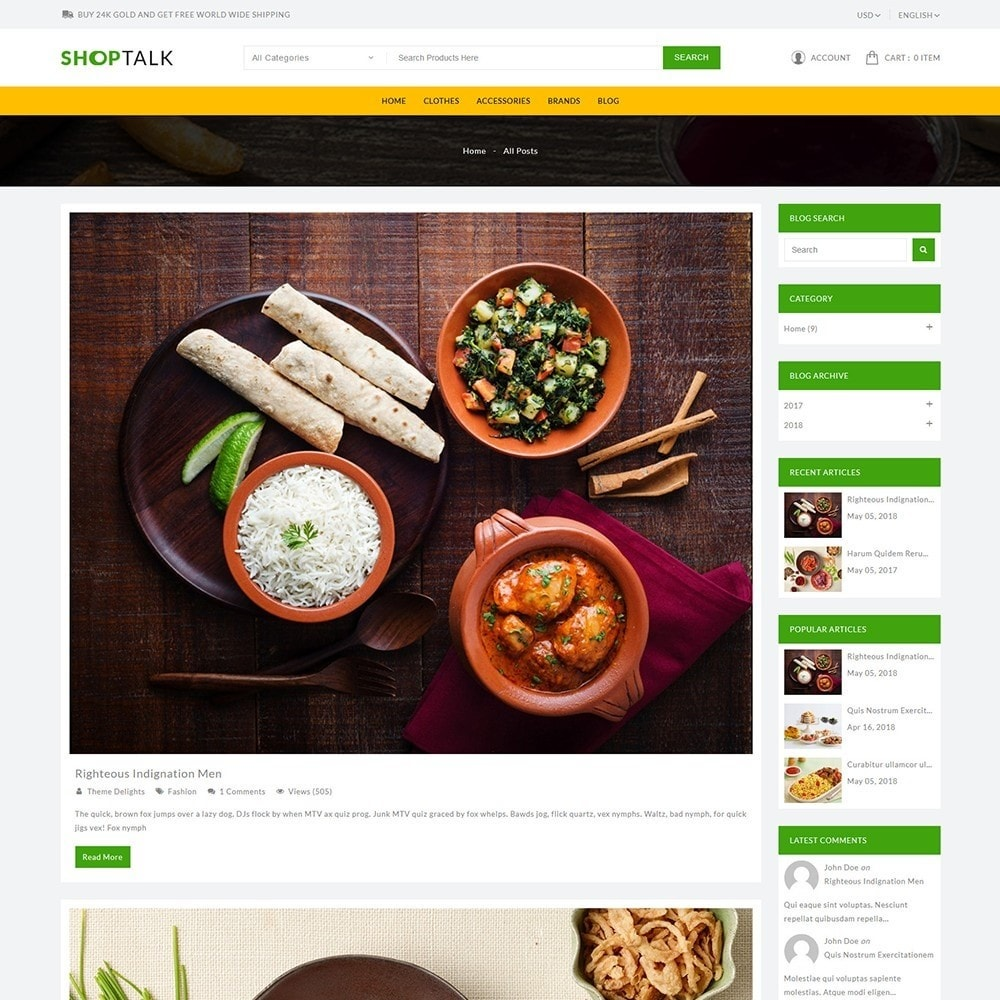 theme - Food & Restaurant - ShopTalk Food Store - 9