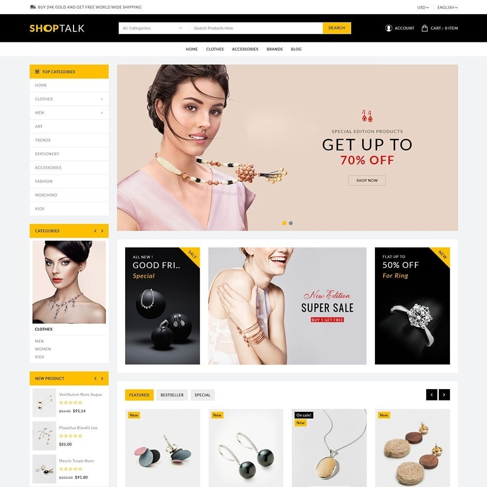 theme - Jewelry & Accessories - ShopTalk Jewellery Store - 2