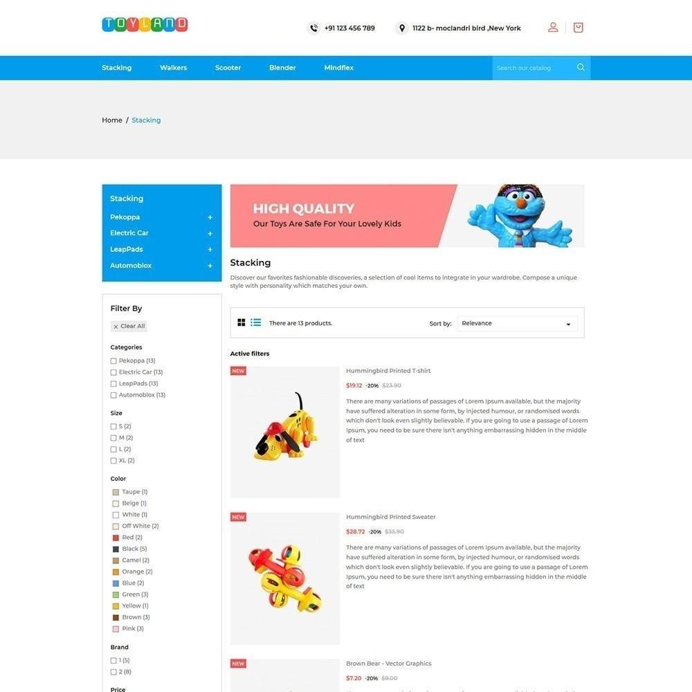 theme - Дети и Игрушки - Toyland - Магазин игрушек для детей - 6