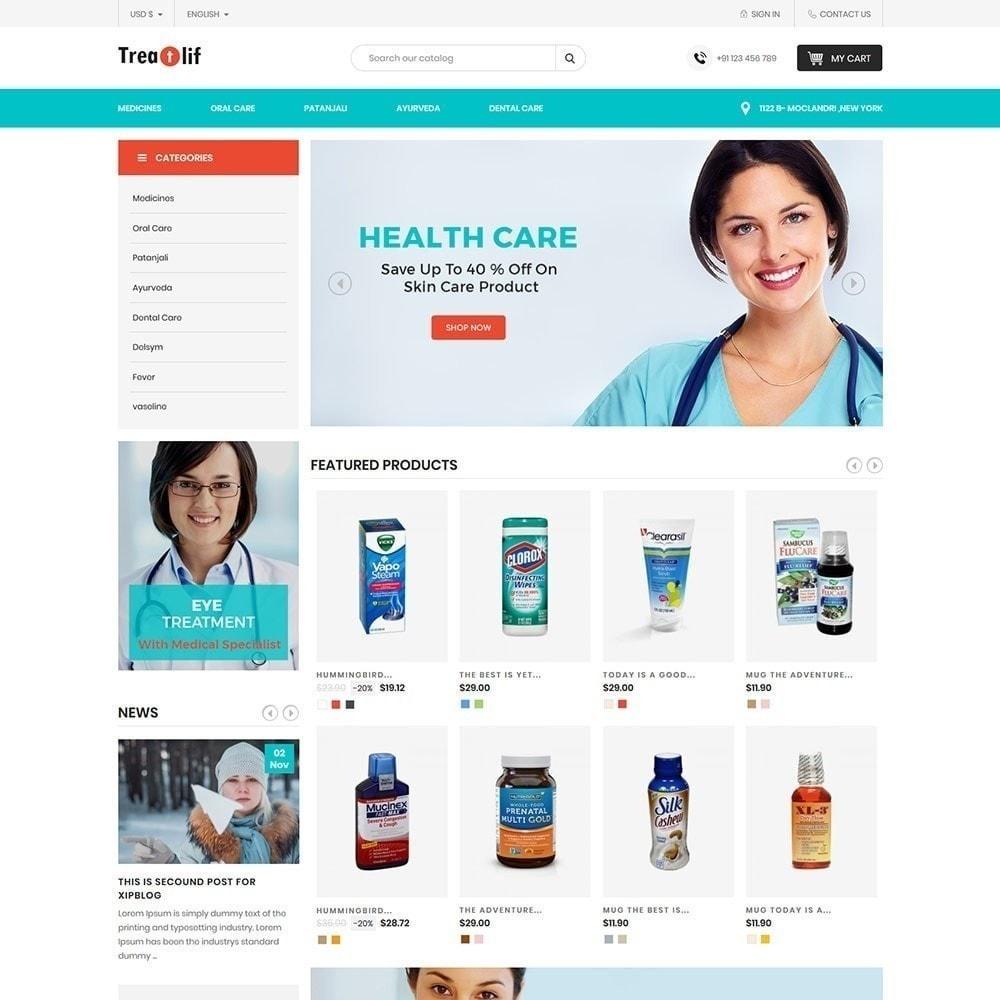 theme - Gesundheit & Schönheit - Treat Life - Geschäft für medizinische Drogerien - 3