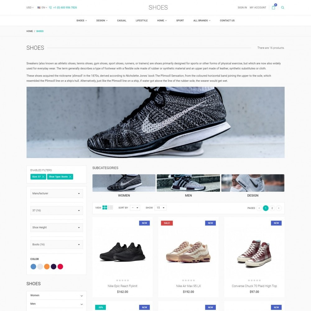 theme - Fashion & Shoes - The ShoeVille - Footwear Store - 3