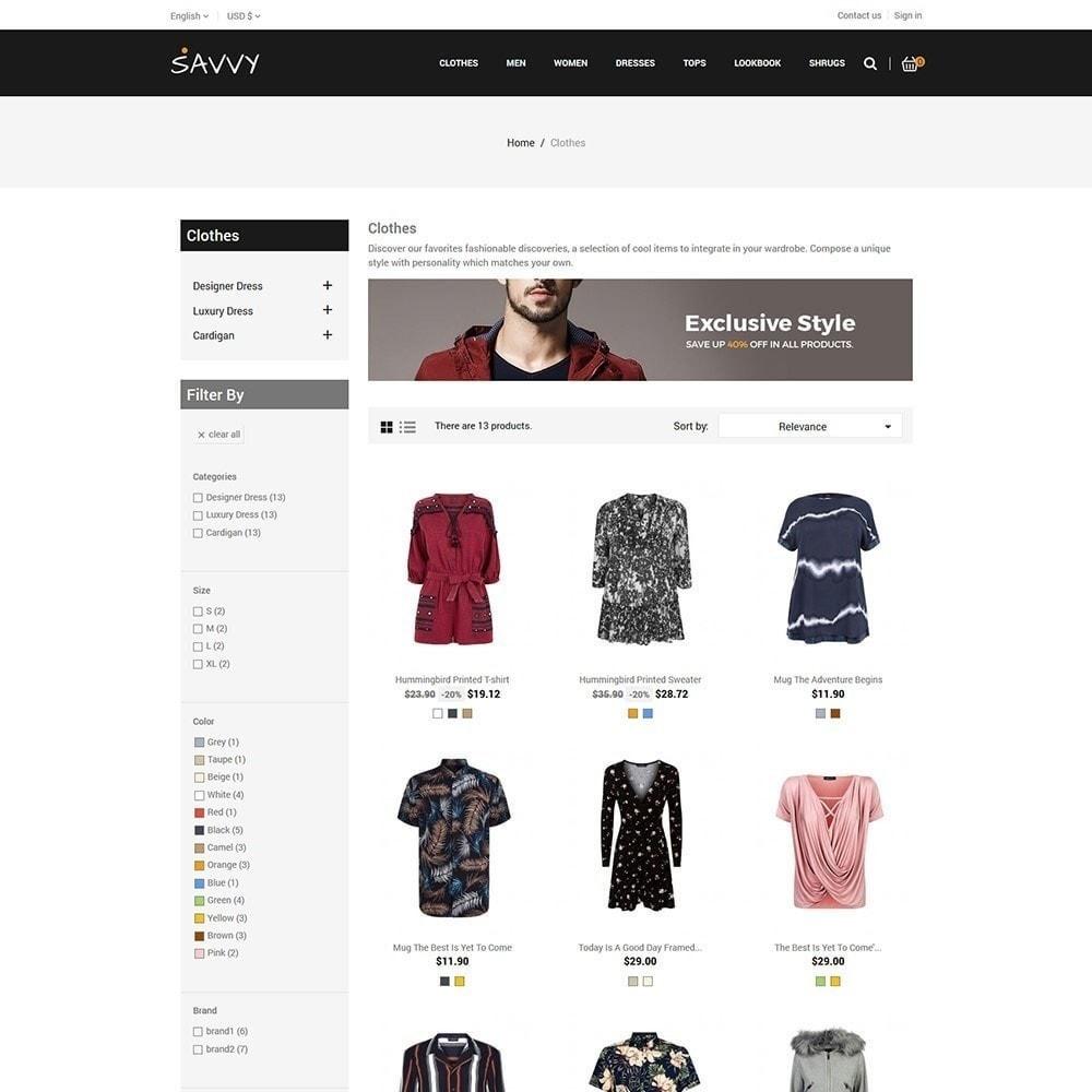 theme - Moda y Calzado - Savvy Designer - Tienda de moda - 4