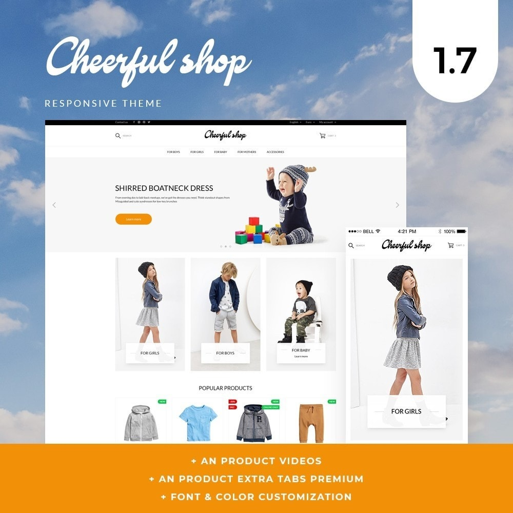 theme - Kids & Toys - Сheerful shop - 1