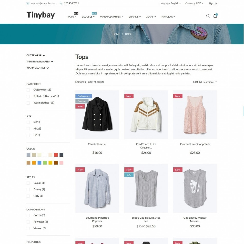 theme - Mode & Chaussures - Tinybay Fashion Store - 4