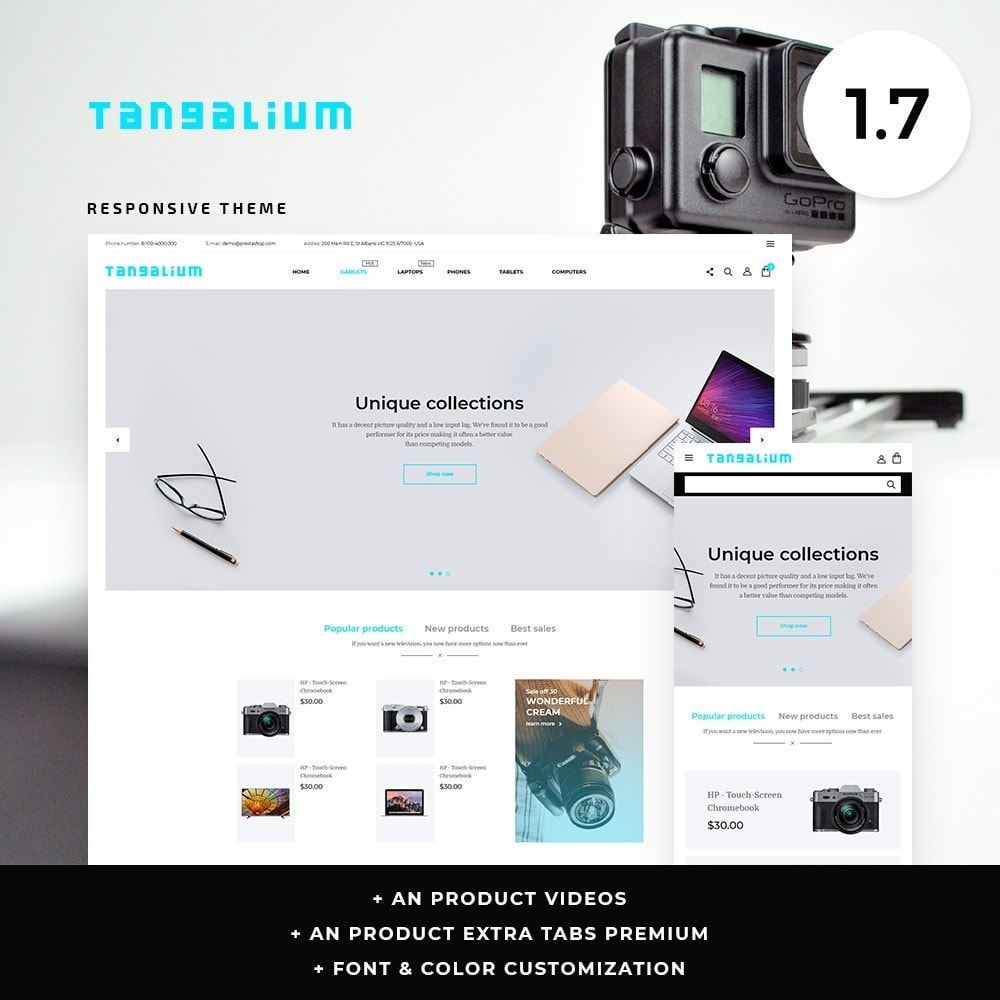 theme - Electronics & Computers - Tangalium - High-tech Shop - 1