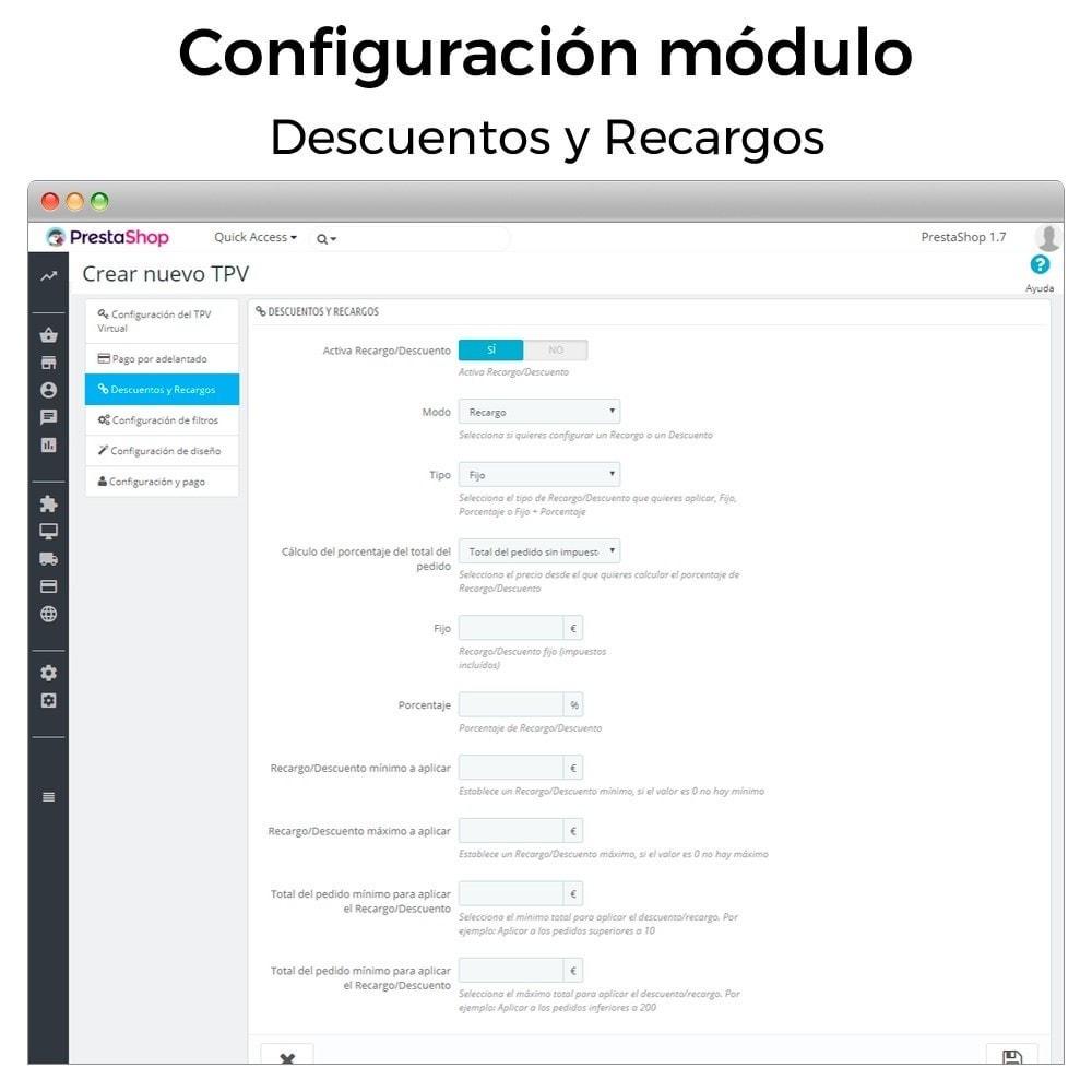 module - Pago con Tarjeta o Carteras digitales - REDSYS Pago tarjeta (Bizum, clicktopay, devoluciones) - 6