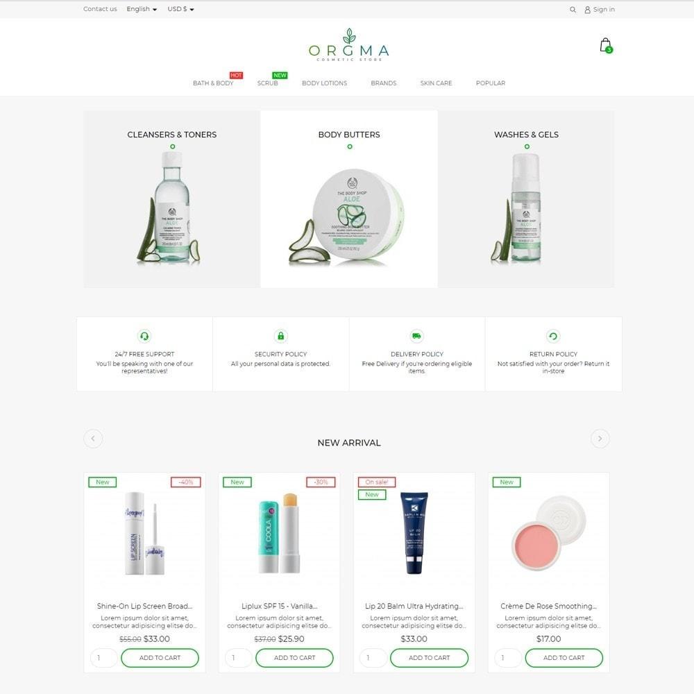 theme - Health & Beauty - Orgma Cosmetics - 2