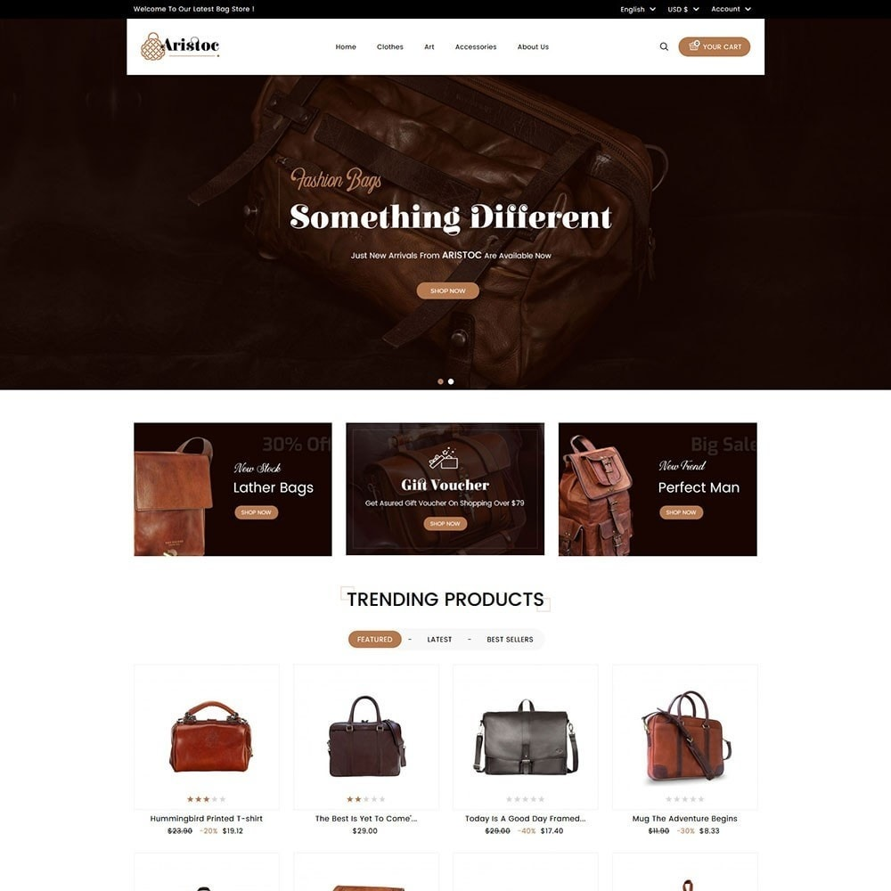 theme - Fashion & Shoes - Aristoc Bag Store - 2