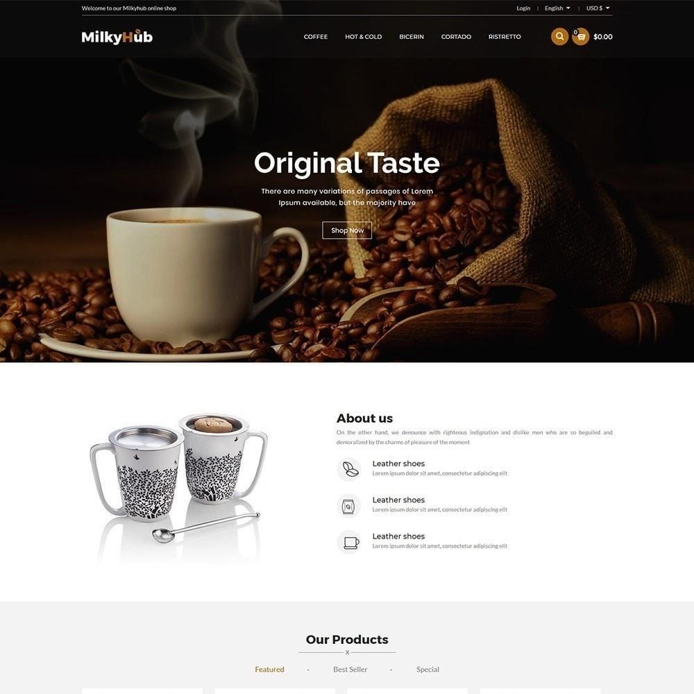 theme - Gastronomía y Restauración - Milkyhub Drink - Tienda De Café - 3