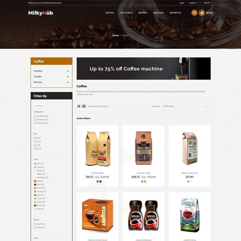 theme - Gastronomía y Restauración - Milkyhub Drink - Tienda De Café - 4