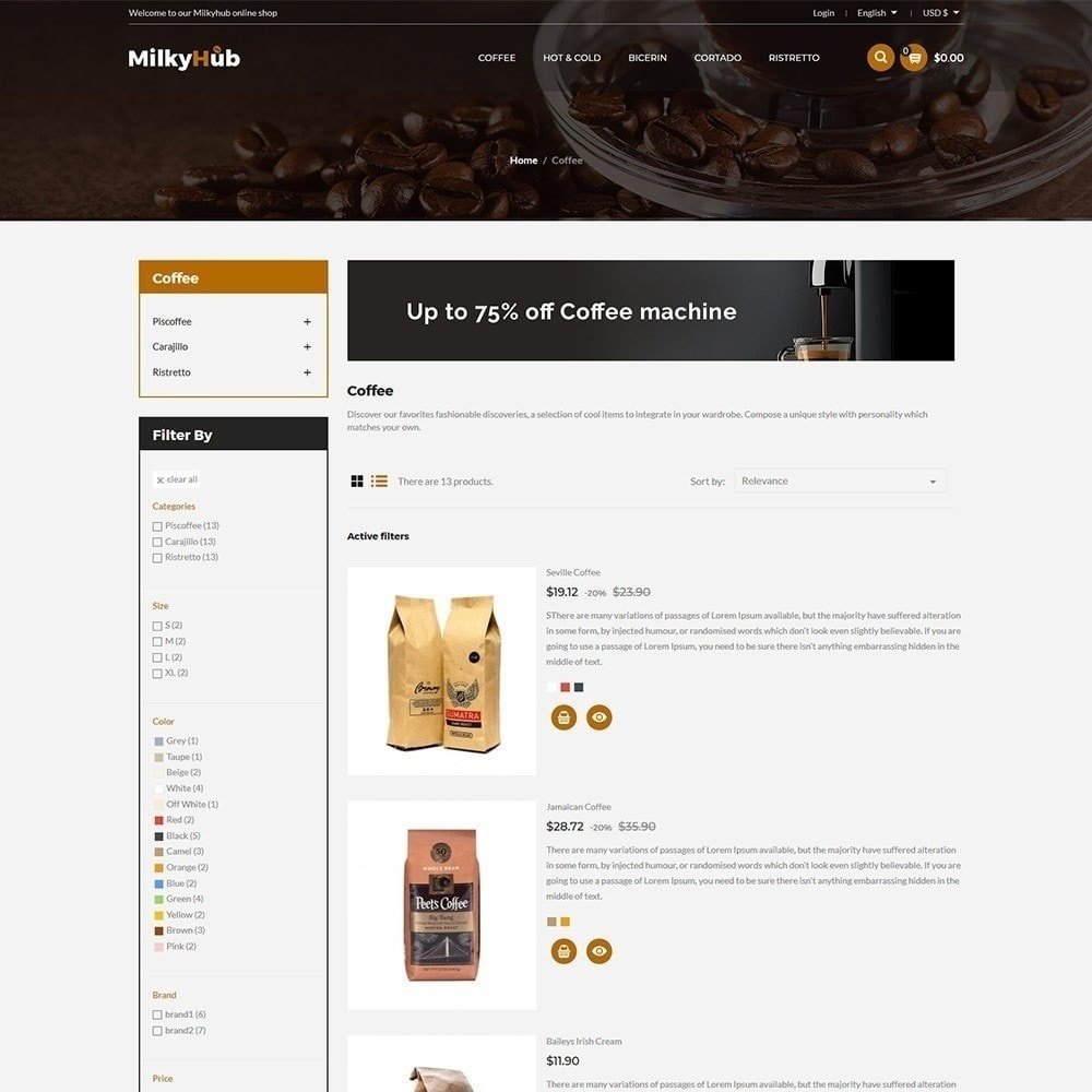 theme - Eten & Restaurant - Milkyhub Drink -Coffee Store - 5