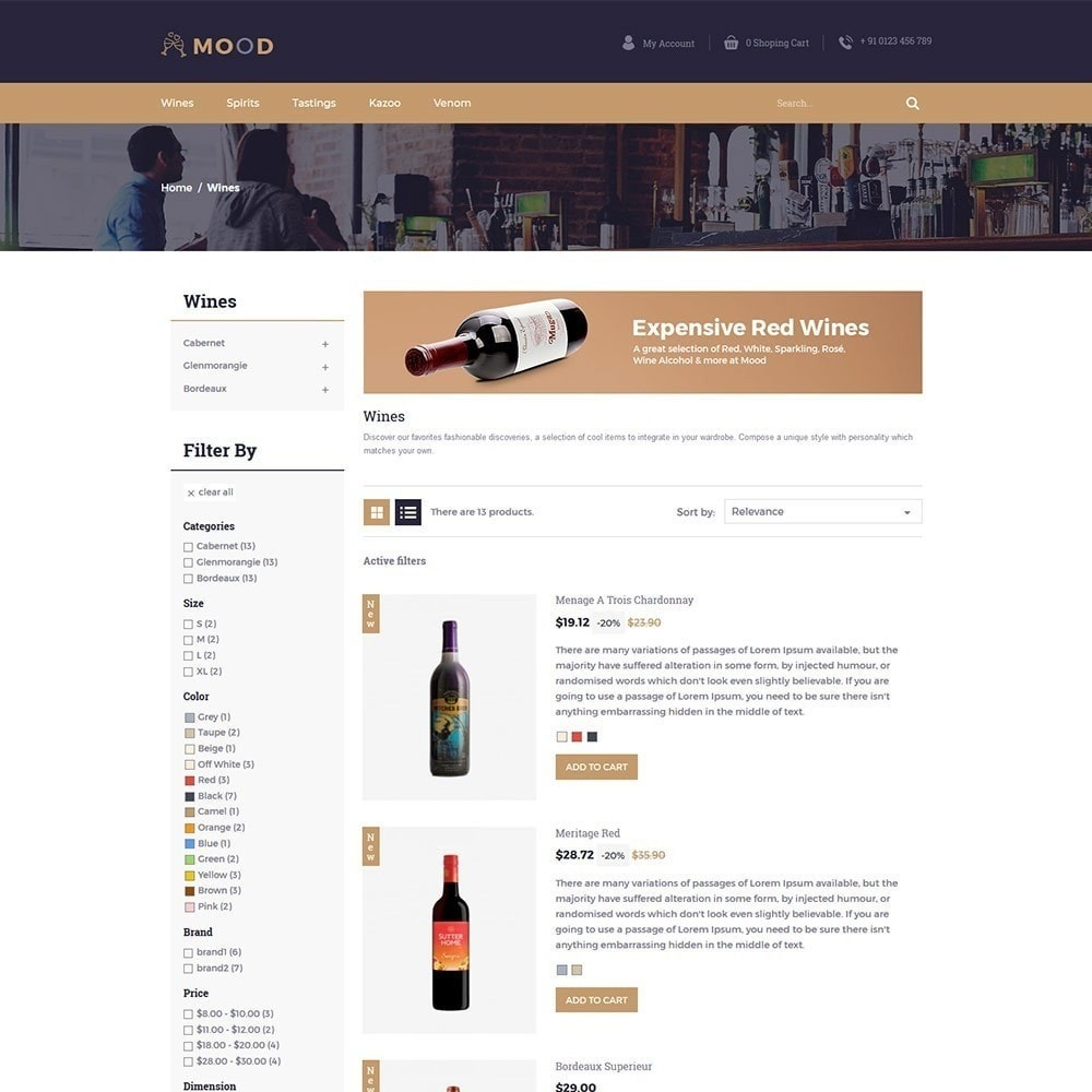 theme - Napoje & Wyroby tytoniowe - Mood Wine - Drink Store - 4