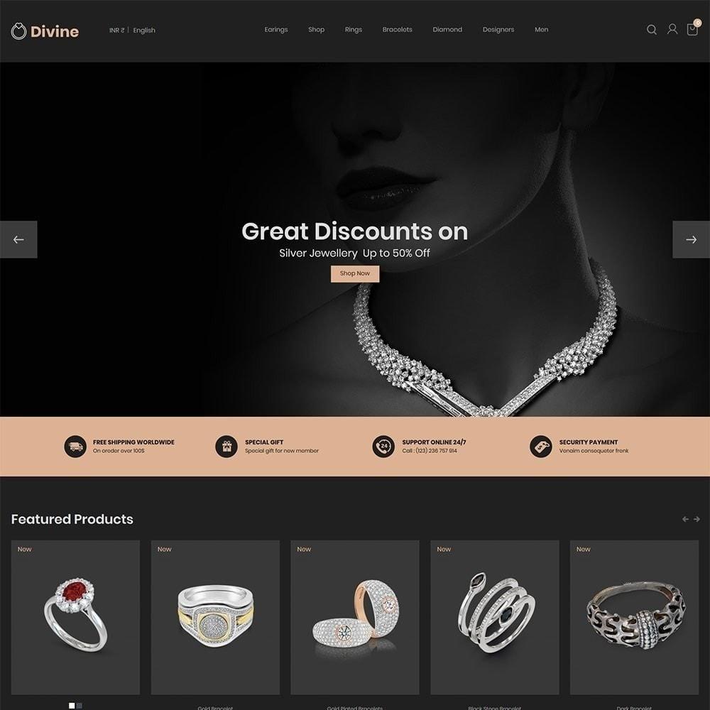 theme - Joalheria & Acessórios - Joalharia Diamond Gold Silver - Loja de luxo - 4