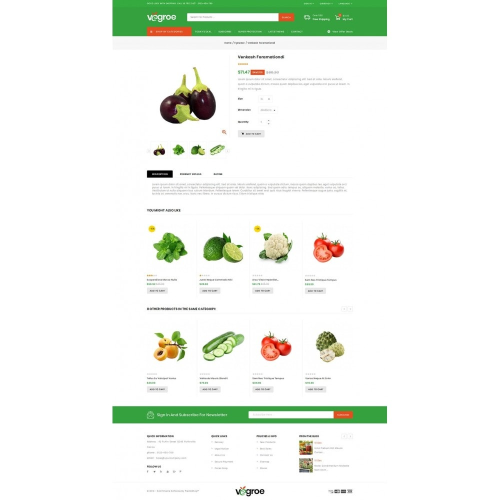 theme - Food & Restaurant - Vegroe - Grocery Store - 4
