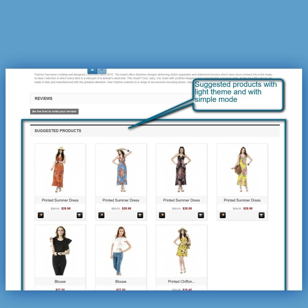 module - Vendas cruzadas & Pacotes de produtos - Custom Suggestions - Related Products - 7