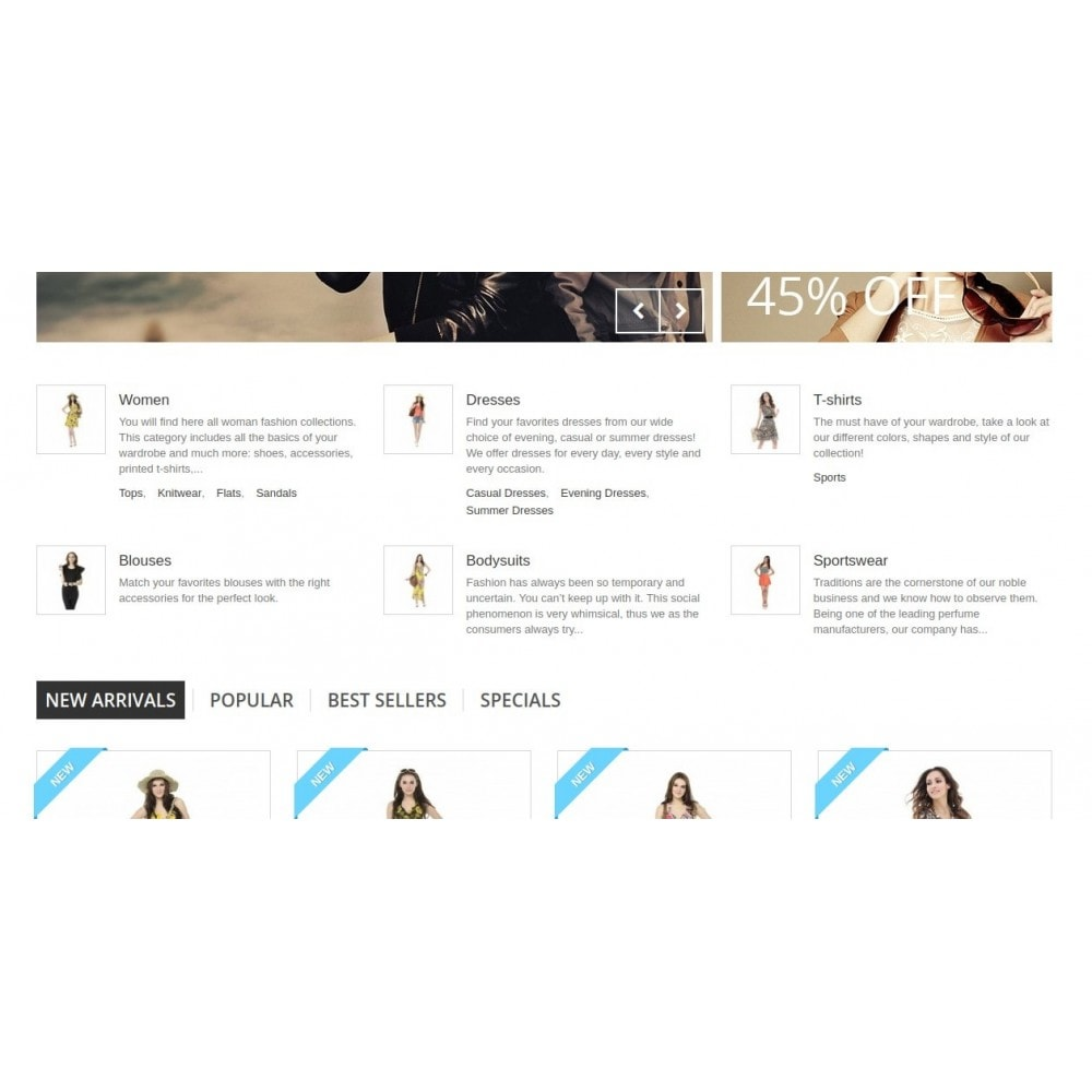 module - Blocos, Guias & Banners - Homepage Categories - Configurable thumbs, layout, ... - 3