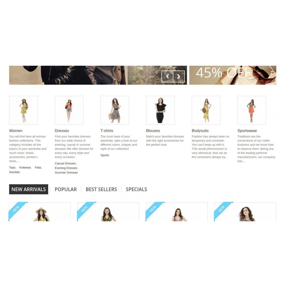 module - Blocos, Guias & Banners - Homepage Categories - Configurable thumbs, layout, ... - 4