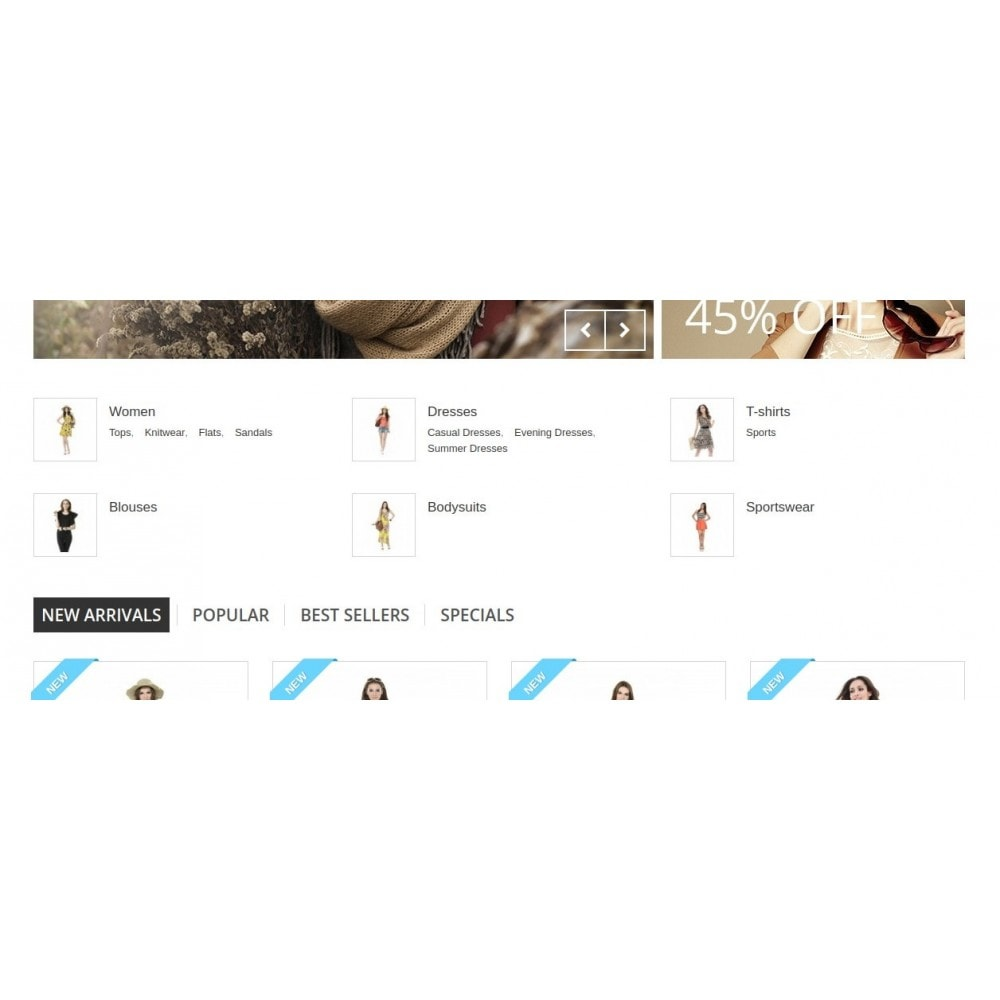 module - Blocos, Guias & Banners - Homepage Categories - Configurable thumbs, layout, ... - 8