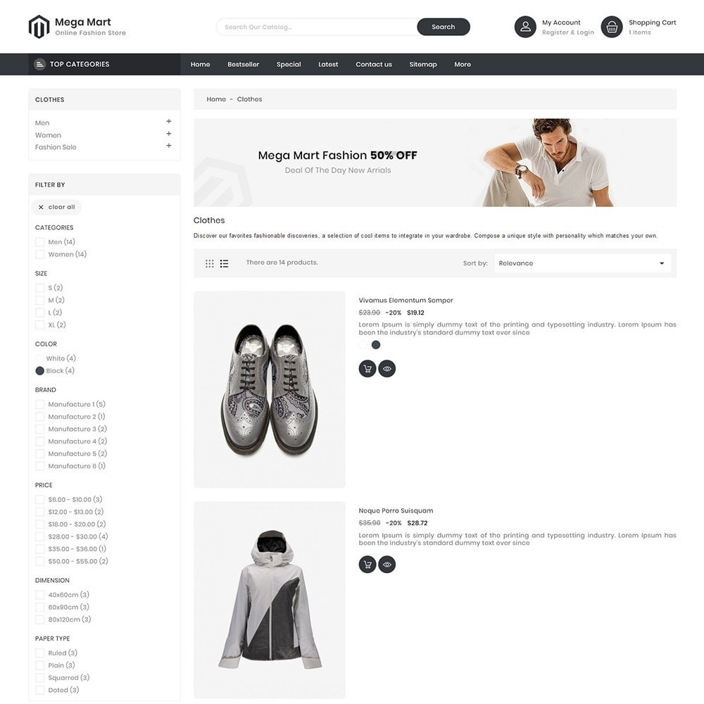 theme - Moda & Obuwie - MegaMart Fashion Store - 4