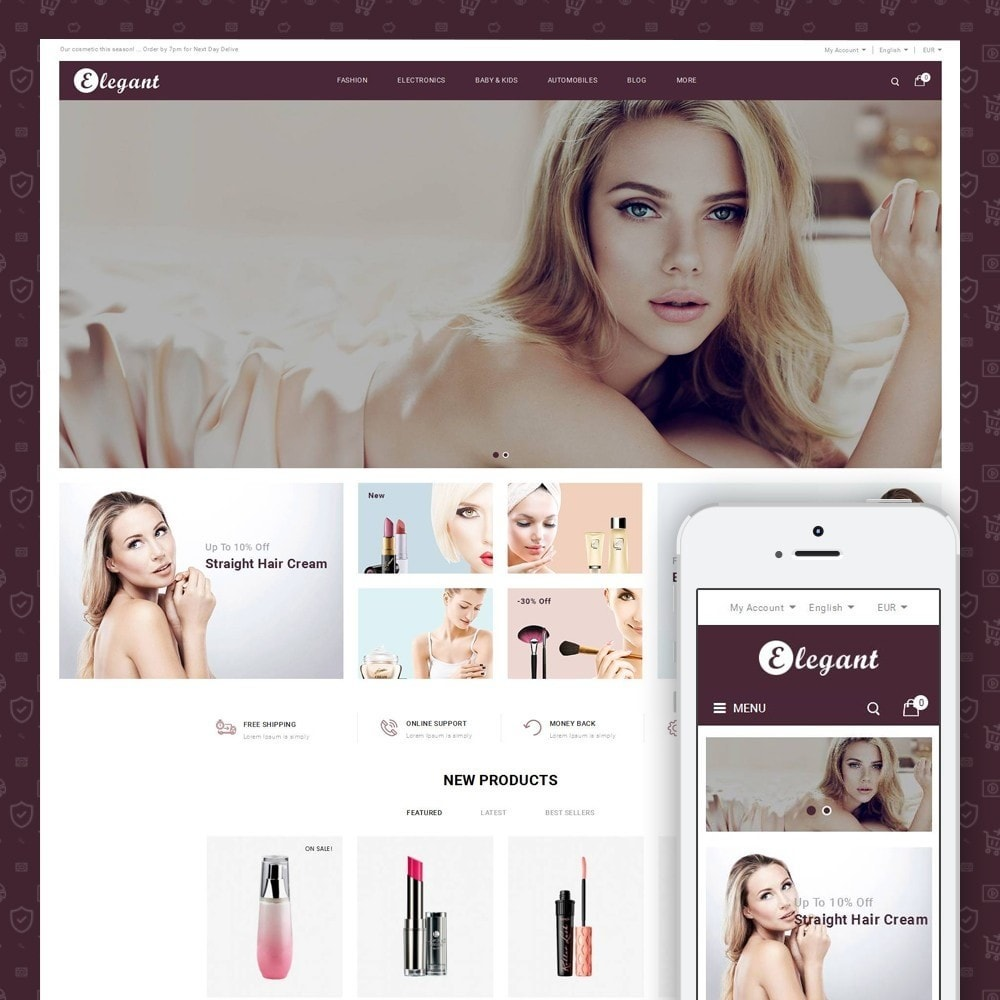 theme - Health & Beauty - Elegant - Beauty Store - 1
