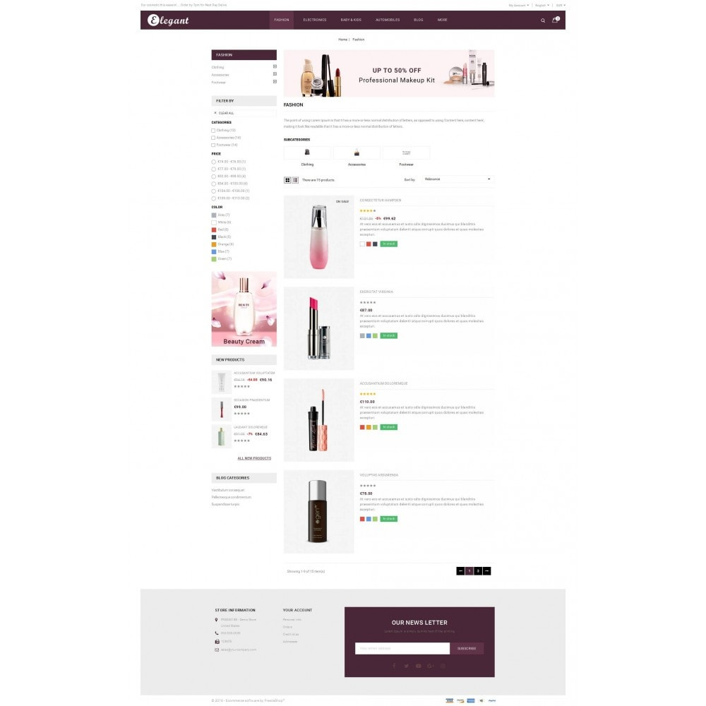 theme - Health & Beauty - Elegant - Beauty Store - 4