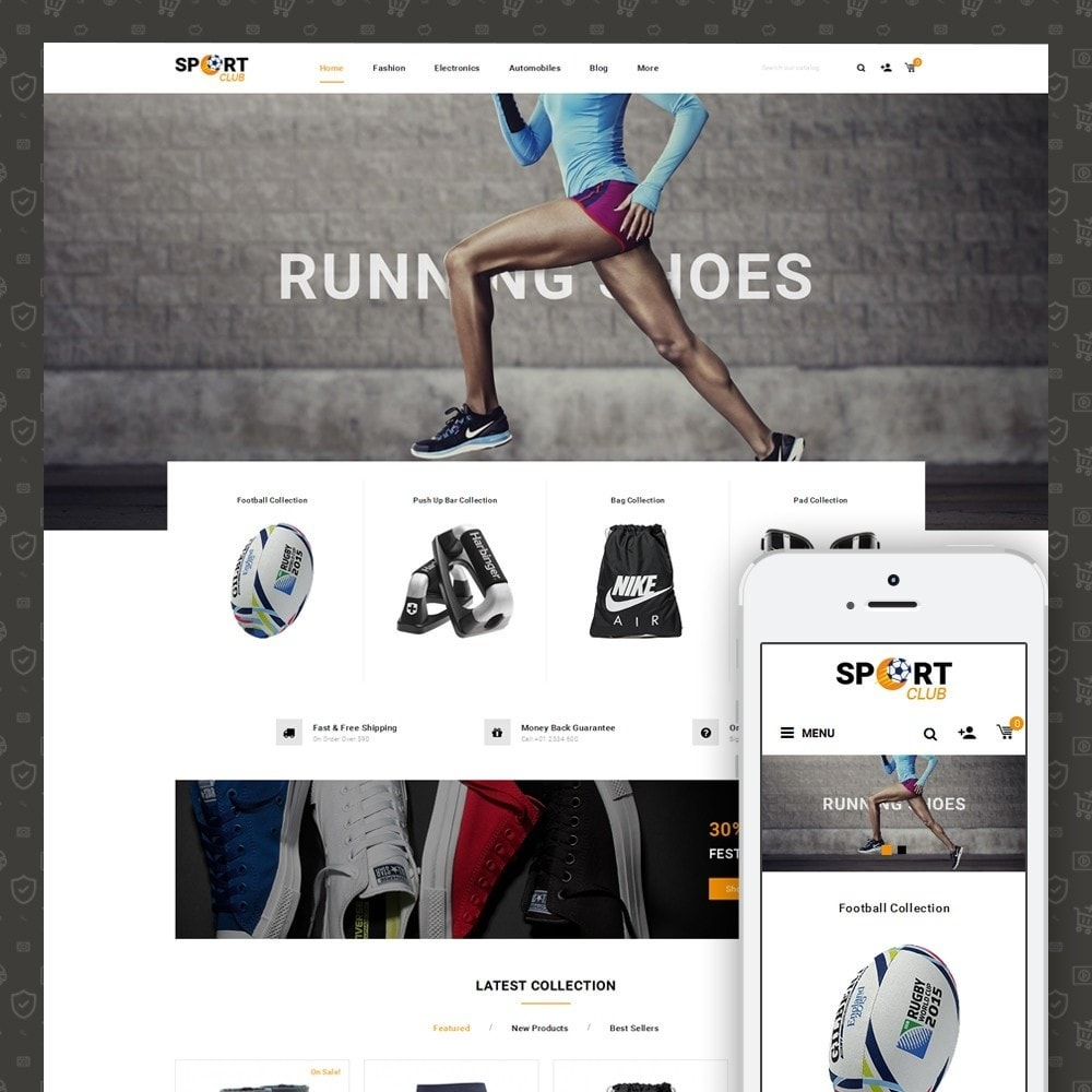 theme - Sport, Aktivitäten & Reise - Sport Club - Accessories Store - 1