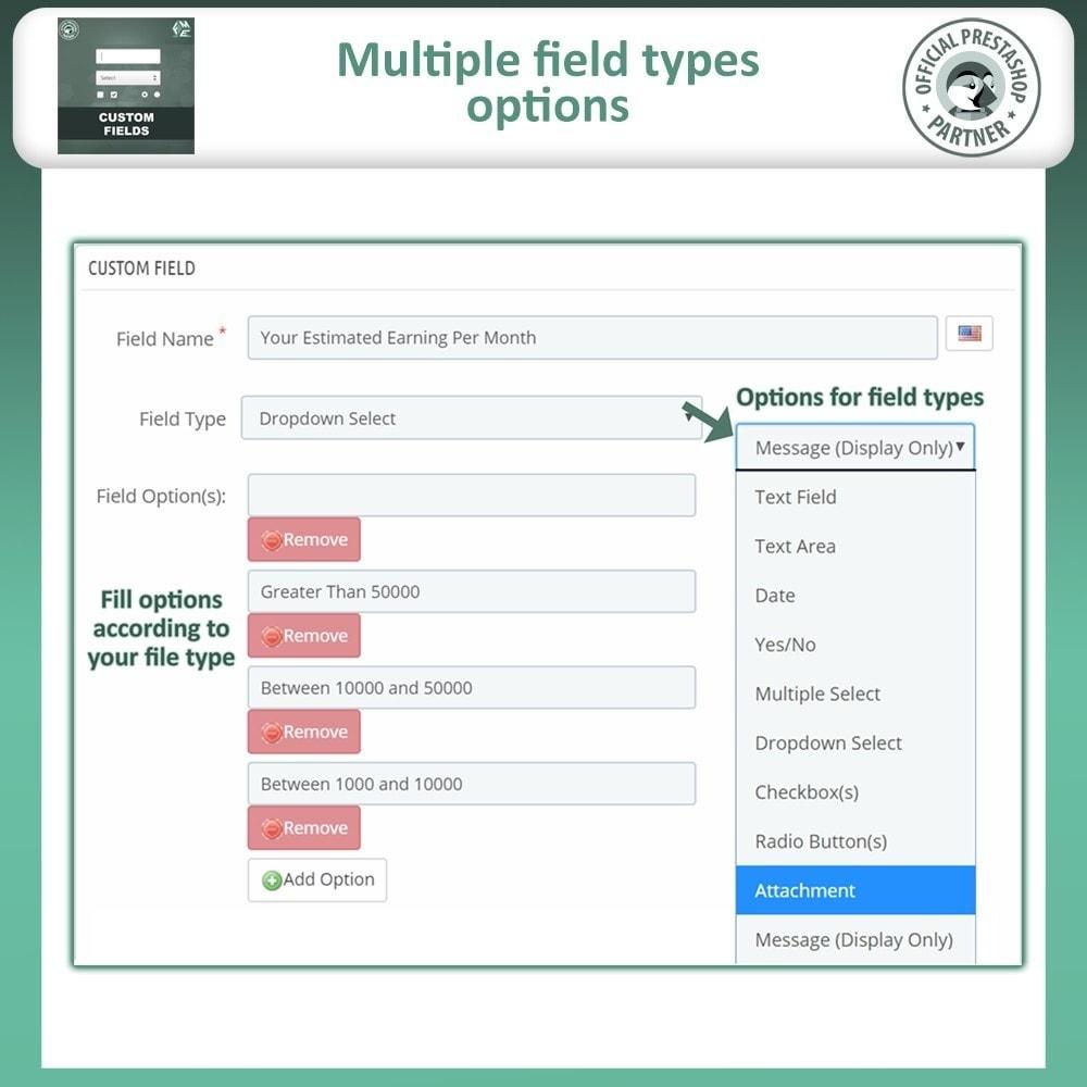 module - Inscripción y Proceso del pedido - Custom Checkout Fields - Campo de Pedido Personalizado - 10