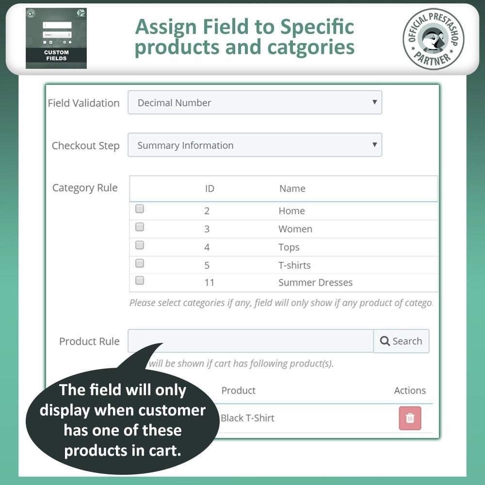 module - Inscripción y Proceso del pedido - Custom Checkout Fields - Campo de Pedido Personalizado - 11