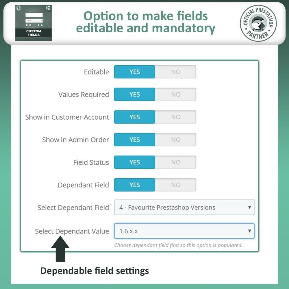 module - Cadastro e Processo de Pedido - Custom Fields, Add Extra Fields to Checkout | Order - 12