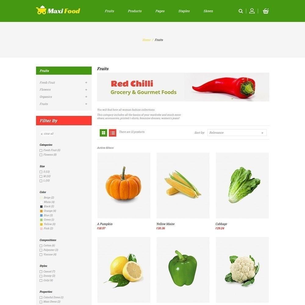 theme - Alimentos & Restaurantes - Maxi Food Fruit - Loja de Legumes - 5