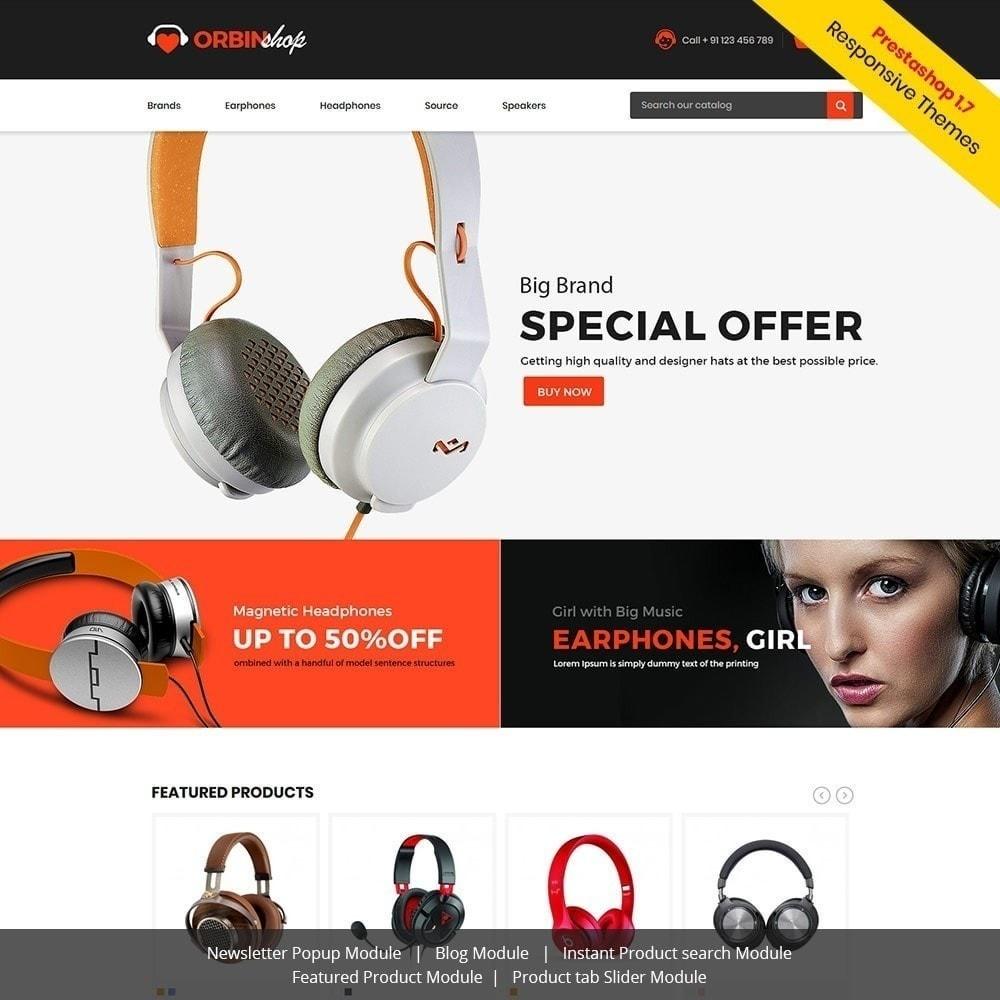 theme - Electronique & High Tech - Orbin Electronics Mobile - Boutique d'informatique - 2
