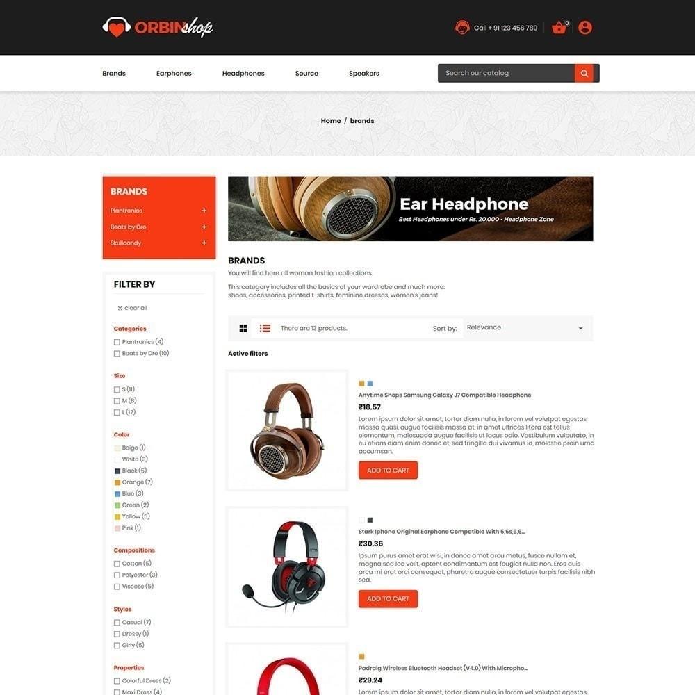 theme - Electronique & High Tech - Orbin Electronics Mobile - Boutique d'informatique - 5