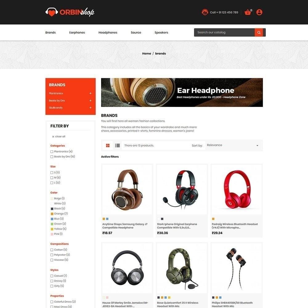 theme - Electrónica e High Tech - Orbin Electronics Mobile - Tienda de informática - 3