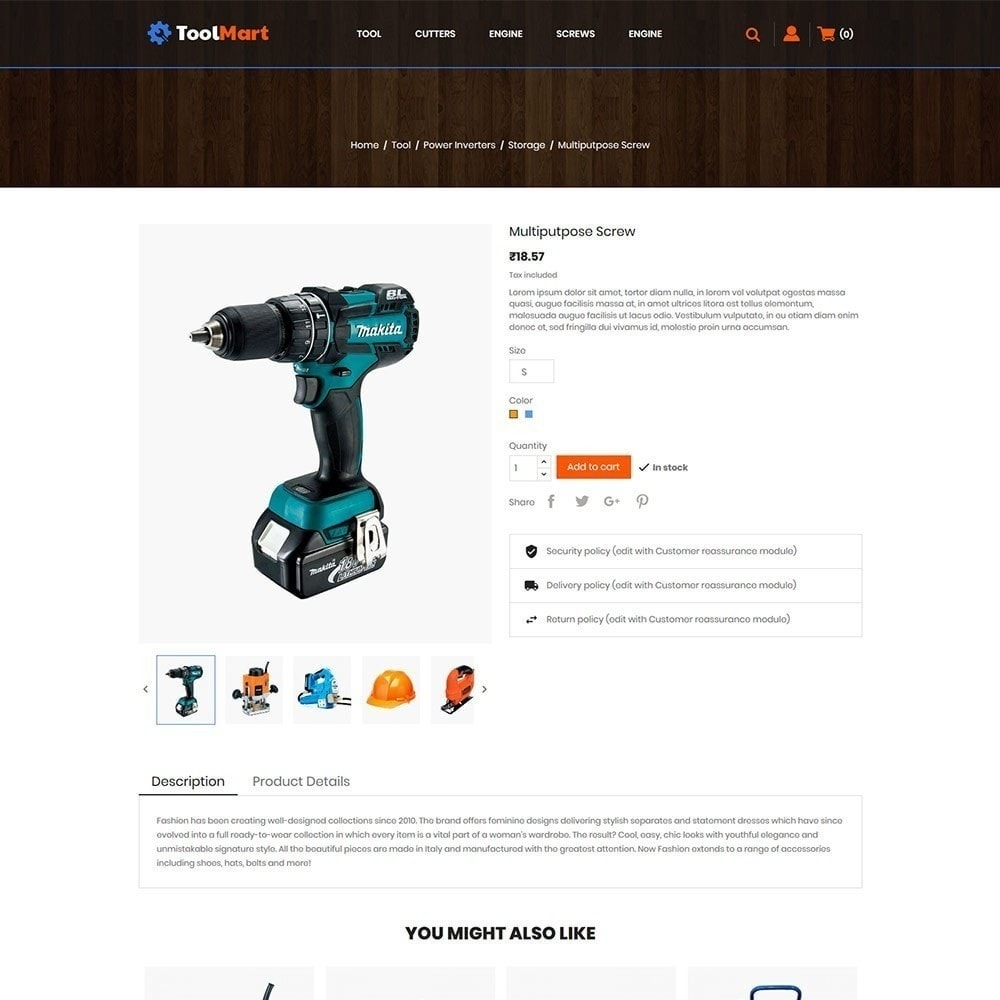 theme - Autos & Motorräder - Toolmart-Werkzeuge - Auto Car Store - 6