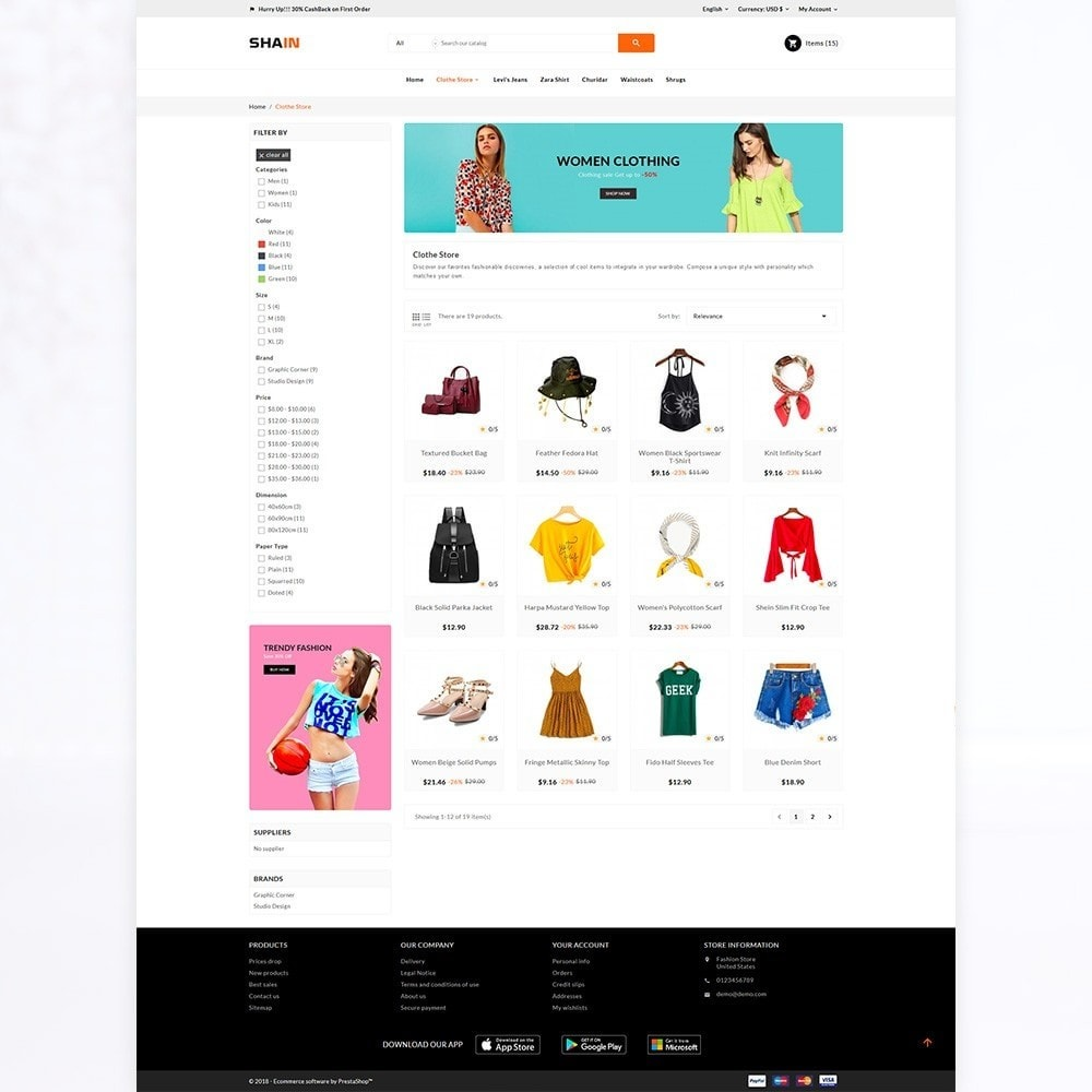 theme - Mode & Schoenen - Shain Fashion Stylish Stop - 3