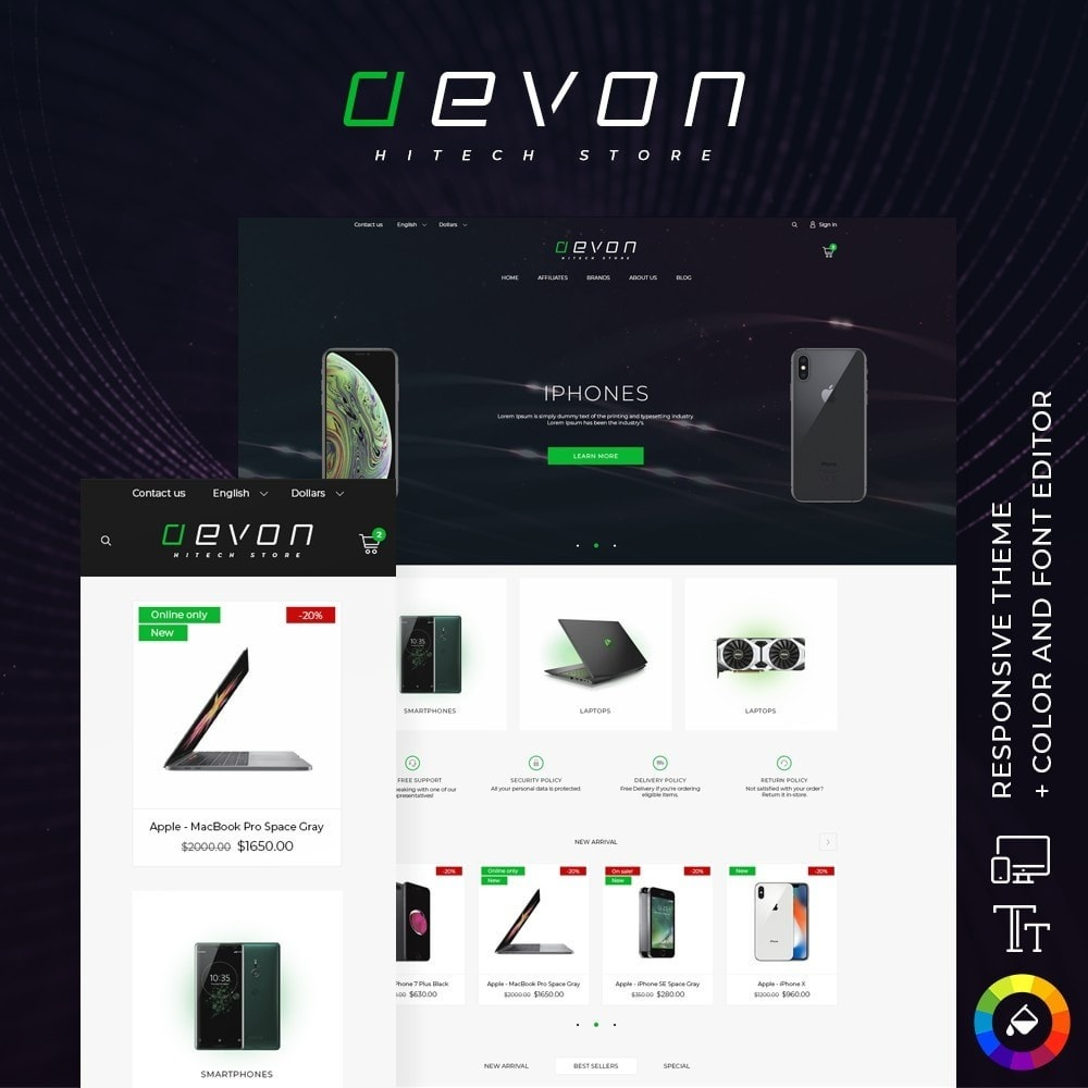 theme - Elektronica & High Tech - Aevon - High-tech Shop - 1