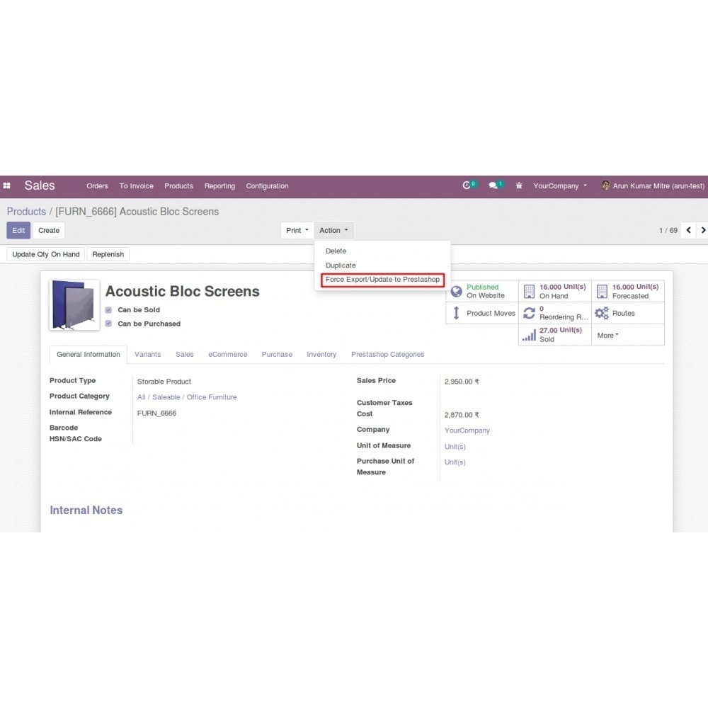 module - Data Integraties (CRM, ERP...) - Odoo - OpenERP Bridge - 19