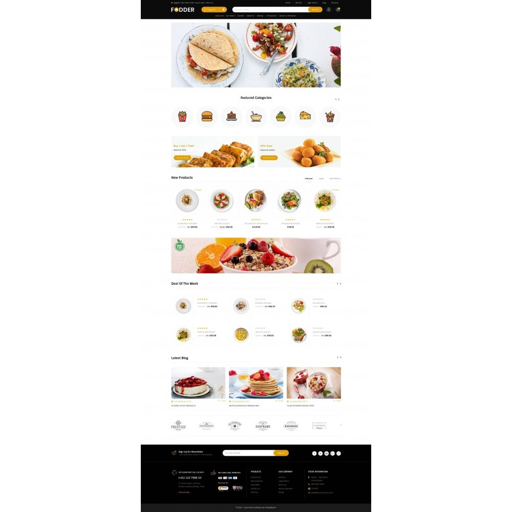 theme - Food & Restaurant - Fodder - Online Restaurant Store - 2