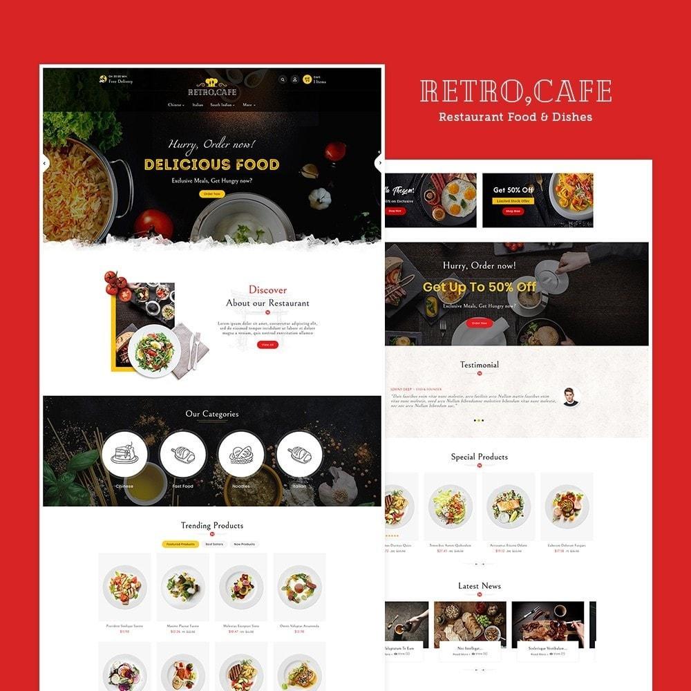 theme - Alimentos & Restaurantes - Retro Cafe - Food & Dishes - 2