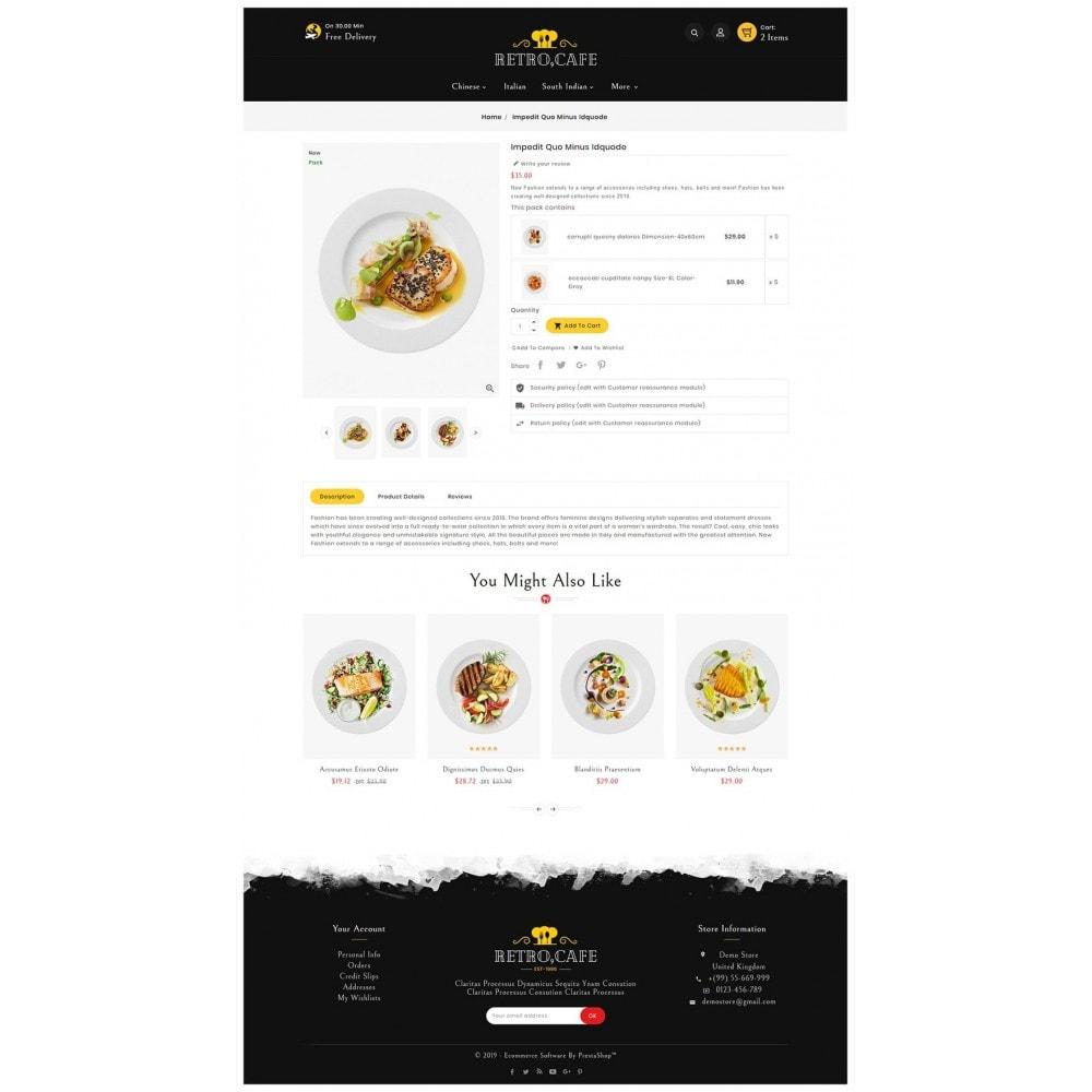 theme - Alimentos & Restaurantes - Retro Cafe - Food & Dishes - 5