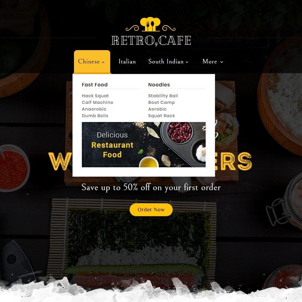 theme - Alimentos & Restaurantes - Retro Cafe - Food & Dishes - 9