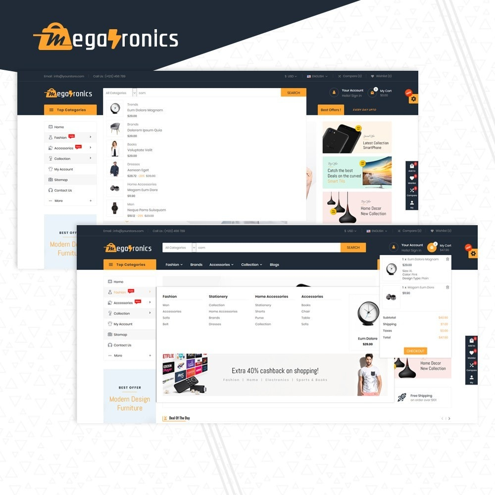 theme - Electronique & High Tech - Megatronics Multi Store - 6
