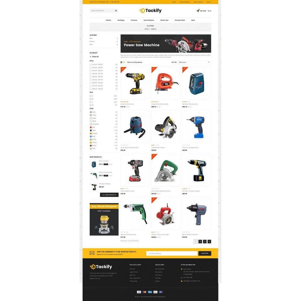 theme - Elektronika & High Tech - Tackify - Tools Store - 3