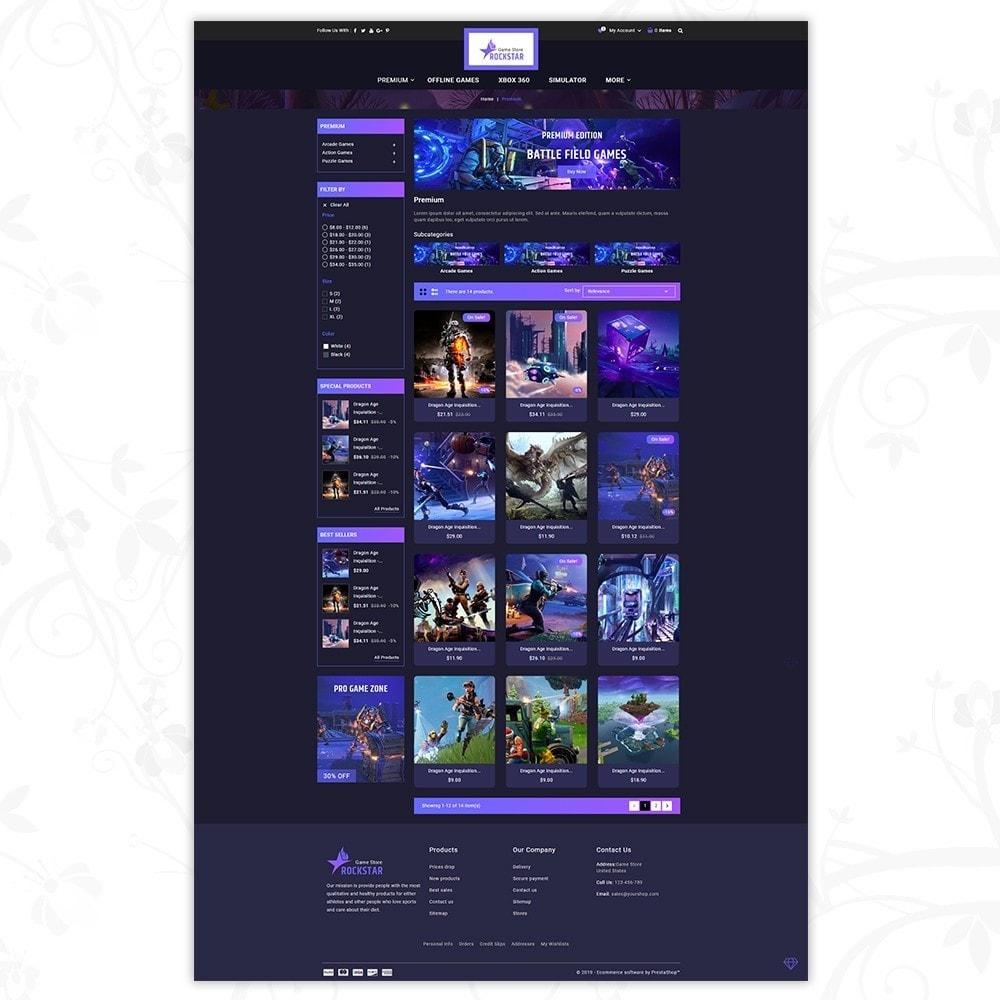 theme - Electronique & High Tech - Rockstar - Games Store - 3