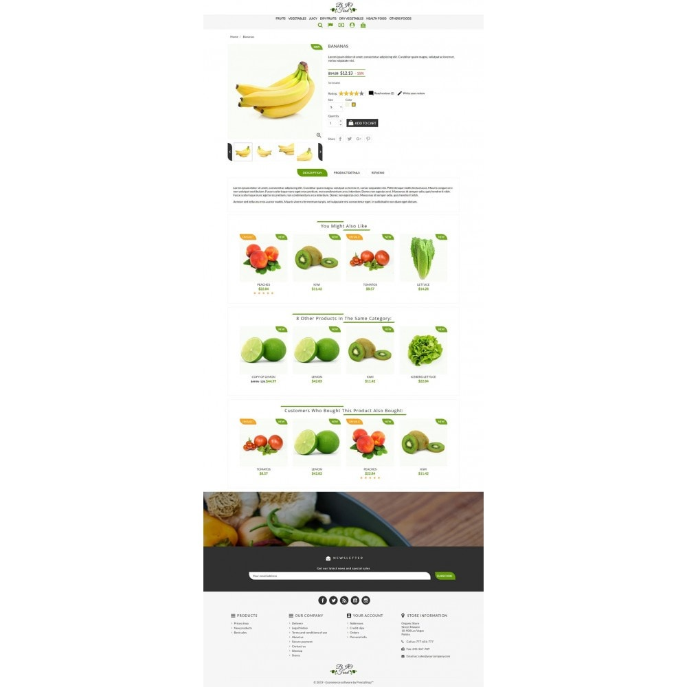 theme - Alimentos & Restaurantes - Bio Food - 3