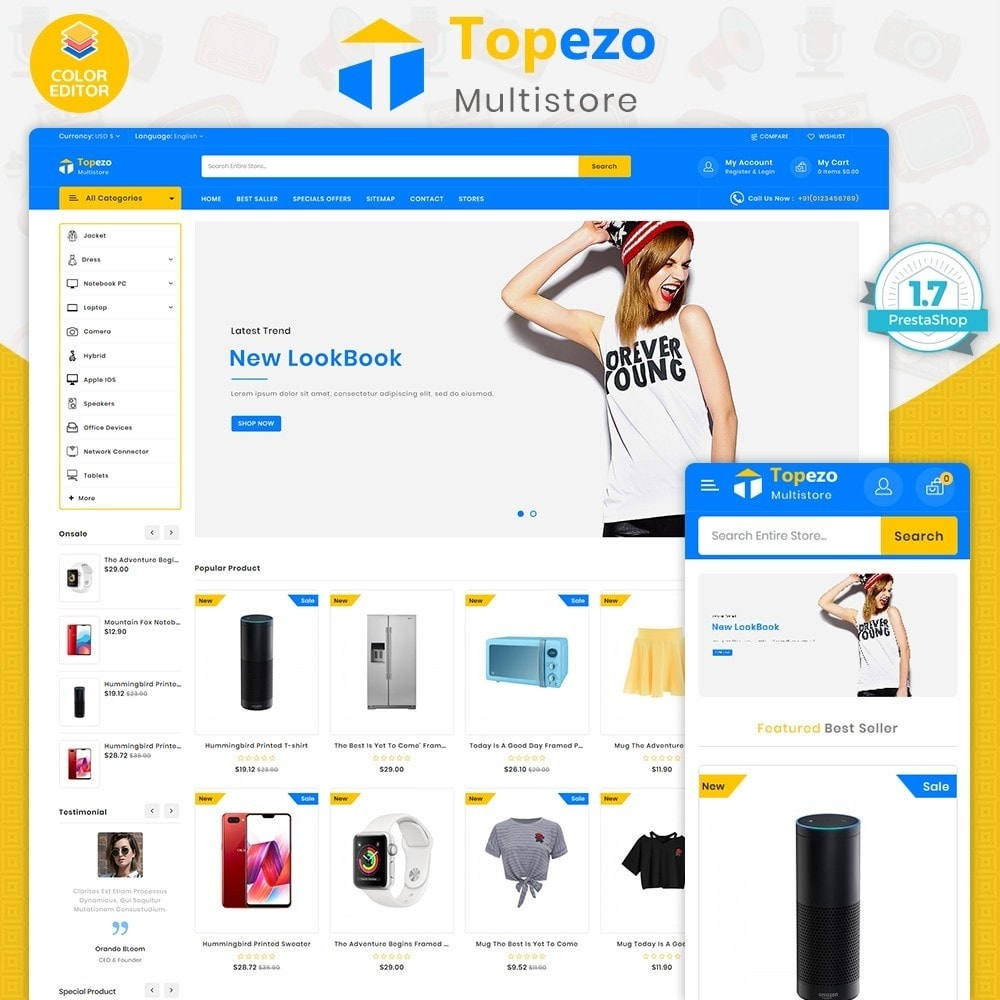 theme - Electronics & Computers - Topezo - The Best MultiStore Theme - 1