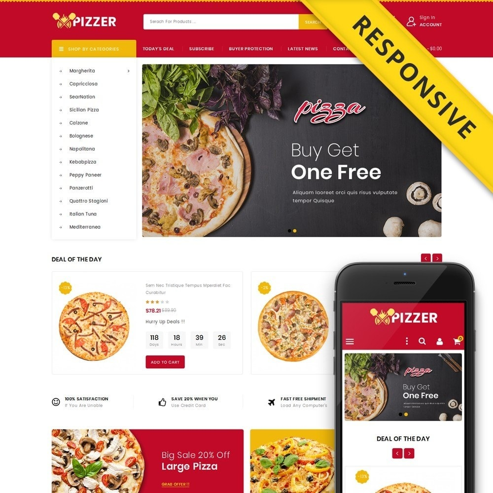 theme - Lebensmittel & Restaurants - Pizzer - Restaurant Store - 1