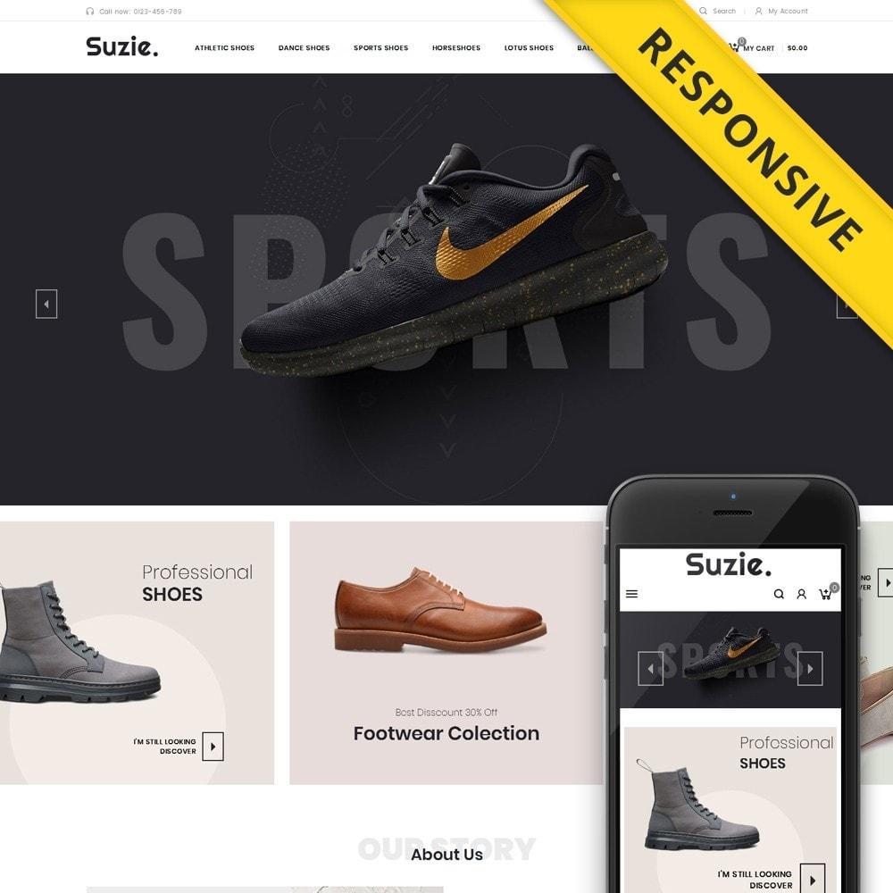 theme - Mode & Chaussures - Suzie - Shoes Store - 1