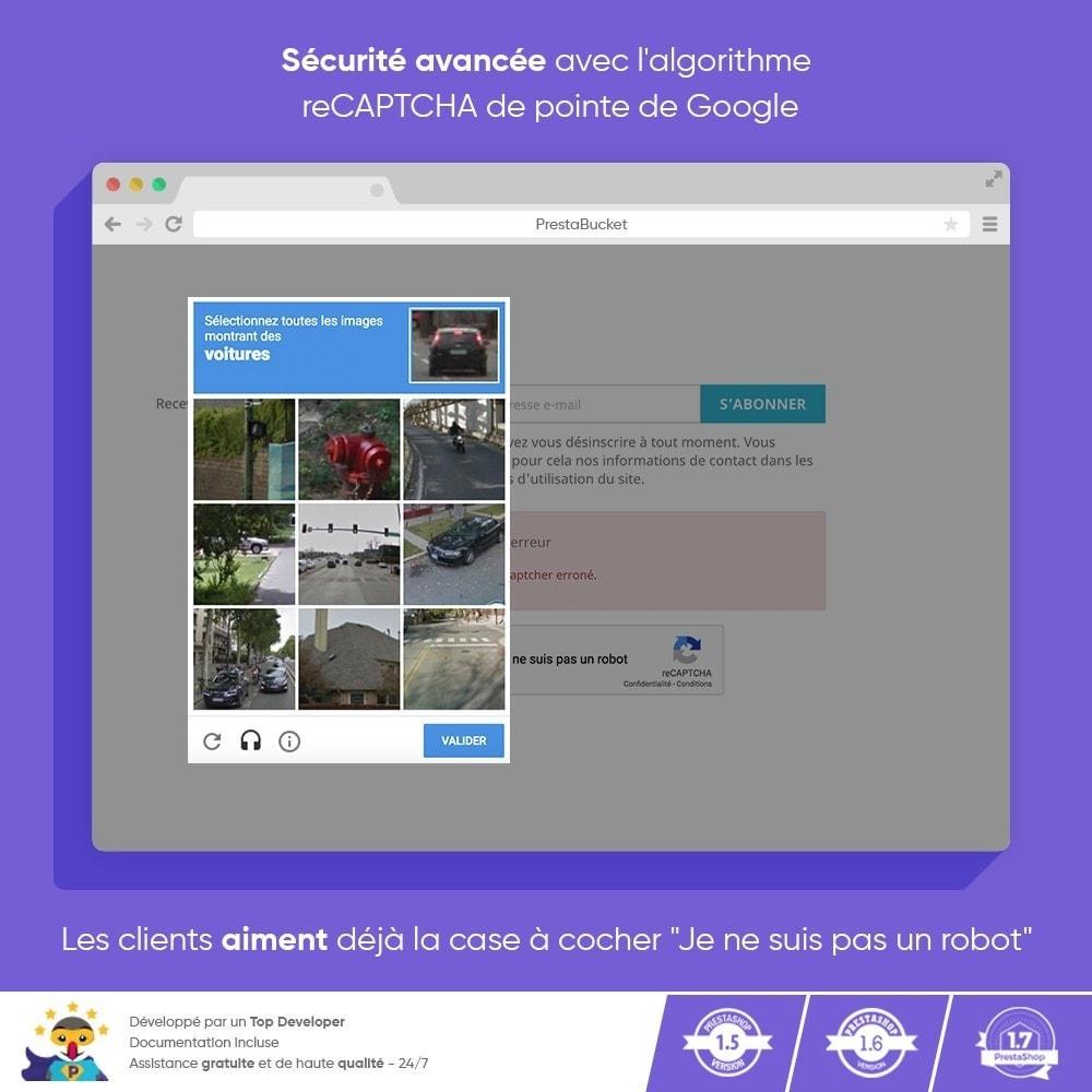 module - Sécurité & Accès - CAPTCHA Google reCAPTCHA PRO + anti Faux Comptes - 7