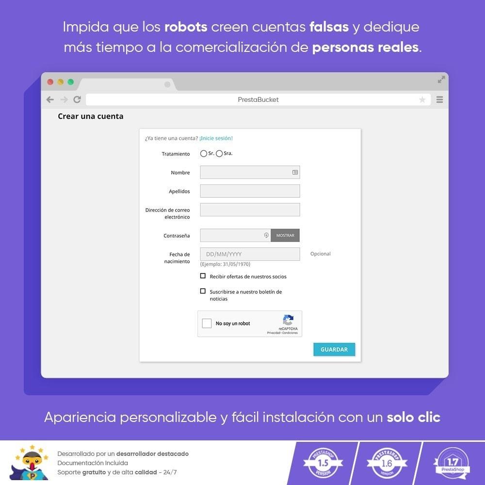 module - Seguridad y Accesos - CAPTCHA Google reCAPTCHA PRO + anti Cuentas Falsas - 6